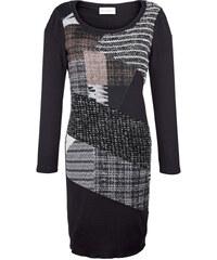 Pletené šaty AMY VERMONT černá/šedá