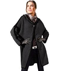 Pletený kabát MONA antracitová-černá