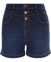 New Look Short Fille en jean bleu marine à taille haute