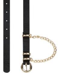 New Look Fine ceinture noire à chaînes