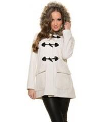 Dámský zimní kabát Koucla DK8038B bílý