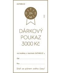 Dárkové poukazy Dárkový poukaz - 3 000 Kč