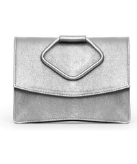 Gretchen Oyster Clutch Two - Sparkling Silver