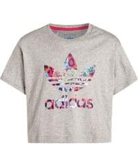 adidas Originals TShirt print medium grey heather/multicolor/fresh pink