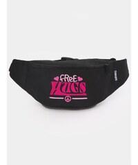 Diamante Chicks Free Hugs Bag Black Pink