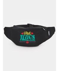 Diamante Chicks Free Hugs Bag Black Rasta