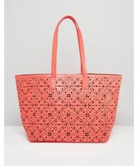 HUSH HUSH Korálová shopper bag s perforací