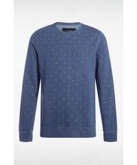 Sweat-shirt homme enfilable à imprimés Bleu Coton - Homme Taille L - Bonobo