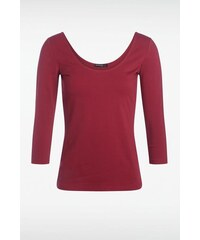 T-shirt femme manches 3/4 Rouge Elasthanne - Femme Taille L - Bonobo
