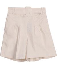 Lesara High Waist-Shorts mit Gürtel - Beige - S