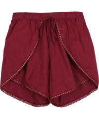 Lesara Shorts in Wickel-Optik - Dunkelrot - S