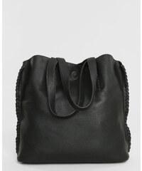 Sac cabas + pochette noir, Femme, Taille 00 -PIMKIE- MODE FEMME