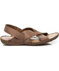 Pánské kožené sandály Hardy hnědé - hnědá