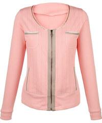 Tričkový kabátek AMY VERMONT růžová