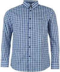 Pierre Cardin Košile Long Sleeve - kostkovaná modrá