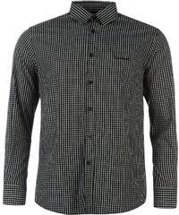 Pierre Cardin Košile Long Sleeve - kostkovaná černá