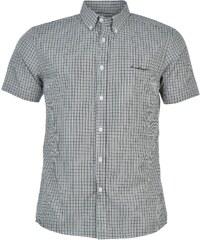 Pierre Cardin Košile Short Sleeve - kostkovaná černá