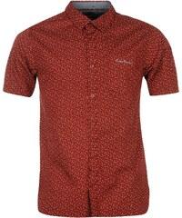 Pierre Cardin Košile Short Sleeve Geo - vzorovaná červená