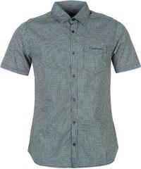 Pierre Cardin Košile Short Sleeve Geo - vzorovaná námořnická modrá