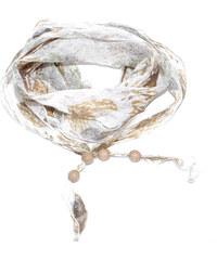 Guess dámský lněný šátek BrownG