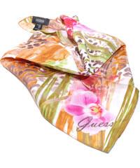 Guess hedvábný šátek Orchid1