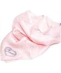 Guess hedvábný šátek se srdíčkem