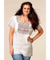 Your Life your Fashion Dámské tuniky, tunika také pro plnoštíhlé s výšivkou 40 režná (ecru)