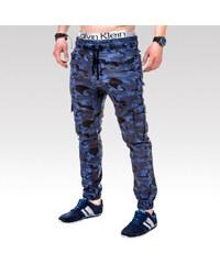 Ombre clothing pánské kalhoty Braxton modré.