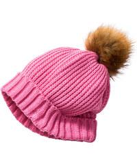 bpc bonprix collection Bonnet en maille avec pompon fuchsia enfant - bonprix
