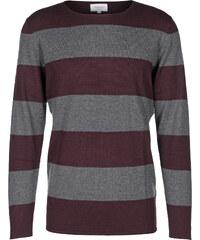 Nowadays Stripe pull en laine bordeux