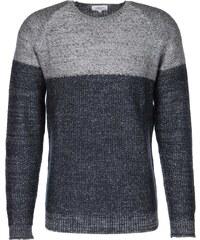 Nowadays Block Stripe Cashmere pull en laine blue black