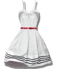 Kleid mit Punkten weiß 0977