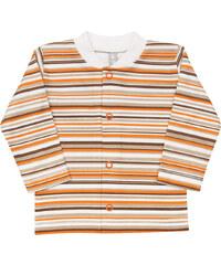 Nini Dětský kabátek pruhovaný - bílo-oranžovo-hnědý