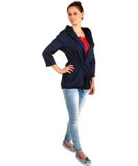 TopMode Ležérní sako s kapucí a kapsami tmavě modrá