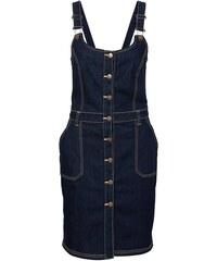 John Baner JEANSWEAR Strečové džínové šaty s laclem bonprix