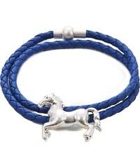 Intrigue Kožený náramek s přívěskem koně