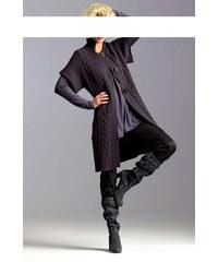 Pletený kabát 34 lila