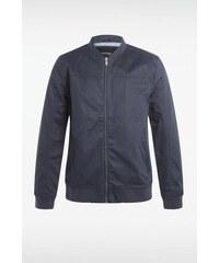 Blouson homme coloris uni poches Bleu Coton - Homme Taille S - Bonobo