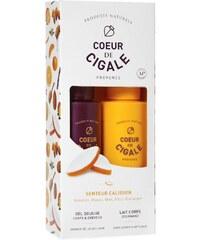 Coeur de Cigale Pack gel douche corps & cheveux et lait corporel - blanc