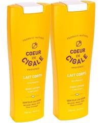 Coeur de Cigale Duo lait gourmand pour le corps 250 ml - jaune