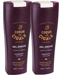 Coeur de Cigale Duo gel douche corps et cheveux 250 ml - violet