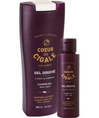 Coeur de Cigale Gel douche corps et cheveux 250 et 100 ml - violet