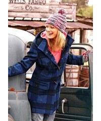 Buffalo Duffle coat teplý vlněný kabát 36 modrá royal
