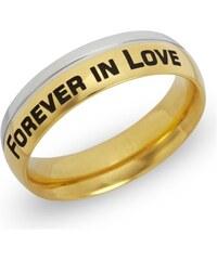 Unique Jewelry Ring Edelstahl vergoldet inkl. Lasergravur R9082lge