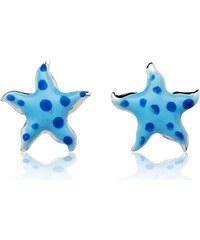 Unique Jewelry 925 Silberohrstecker für Kinder blaue Sterne KE0064