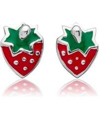 Unique Jewelry Kinderohrstecker Erdbeere 925 Silber KE0106