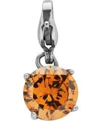 Unique Jewelry Edelstahlcharm mit echtem Topas zum Einhängen CS0068