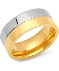 Unique Jewelry Edelstahlring teilvergoldet 8mm R9189