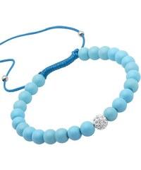 Unique Jewelry Armband Textil Glasperlen und Zirkonia TXB0124