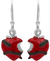 Unique Jewelry Modische Ohrhänger Silber Herz-Schlange schwarz SE0530